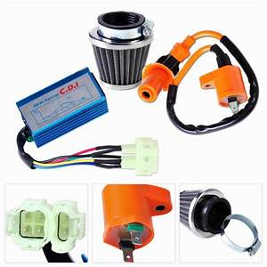 Motorcycle Racing Performance Ignition Coil  Cdi Box  Air Filter Kit Fit For Gy6 50cc 150cc
