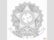 Coat of Arms of Brazil coloring page Free Printable