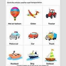 Different Means Of Transport Worksheet  Turtle Diary