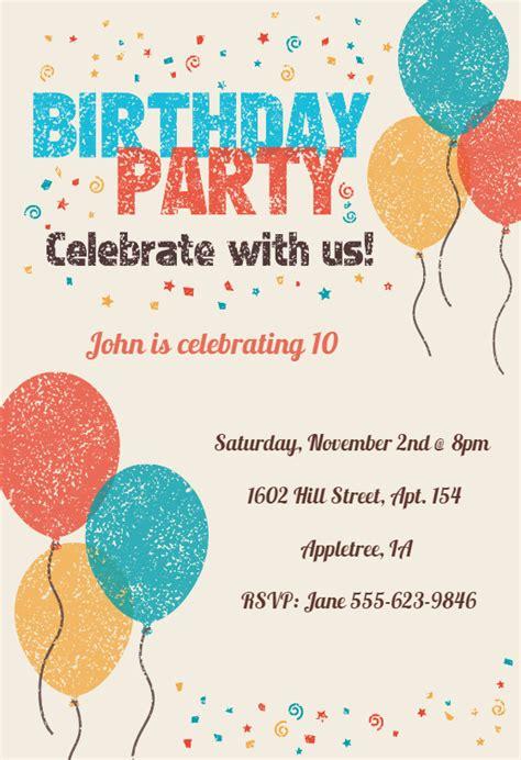 celebrate   birthday invitation template