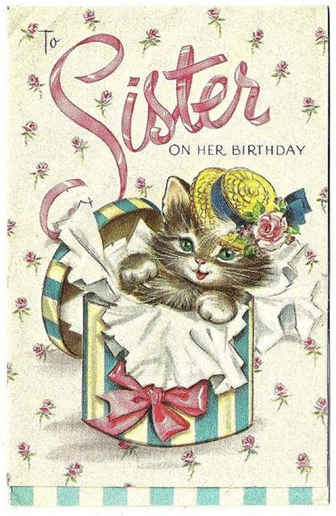 vintage birthday greeting graphics