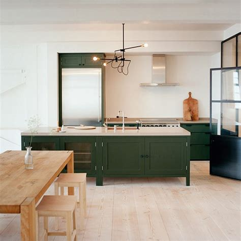 green kitchen cabinets uk modern wood kitchen with green freestanding cabinetry