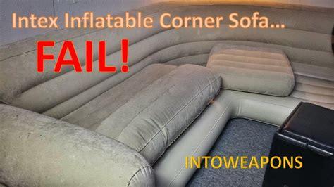 intex inflatable corner sofa 60 day review failure