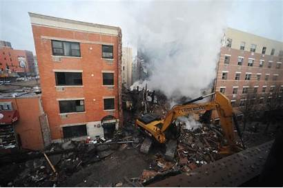 Explosion Harlem East Building Buildings Crumbling York