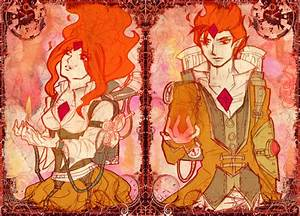Flame Princess and Flame Prince- Steampunk by callousvixen ...