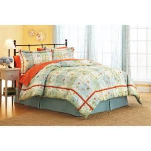 better homes and gardens posies plaid comforter set full walmart com