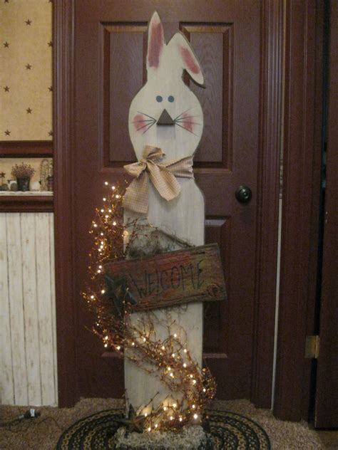 big bunny wooden easter decorations spring easter decor