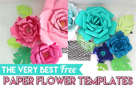 paper flower templates  craft patch