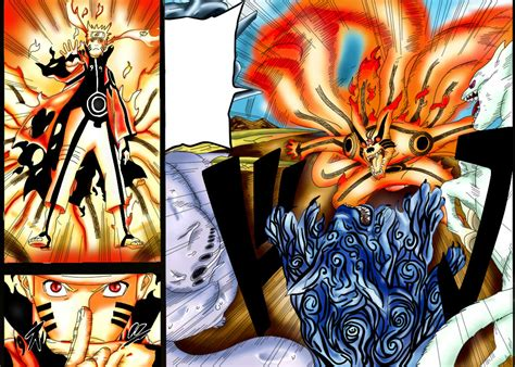 Bijuu Mode Vs 5 Tailed Beasts