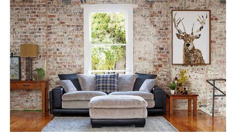 Ottoman Kingdom by Kingdom 4 Seater Fabric Sofa Plus Ottoman Lounges