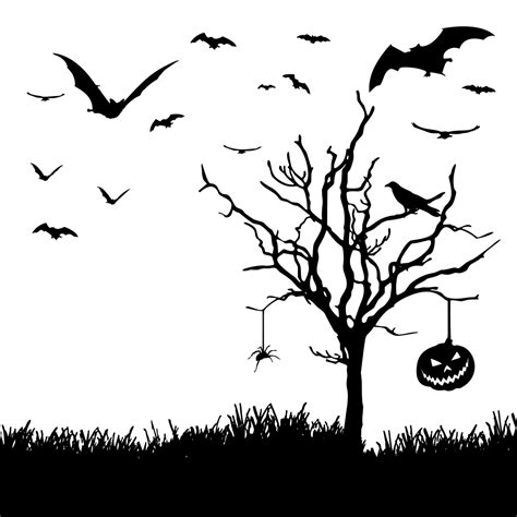 onlinelabels clip art halloween scene silhouette