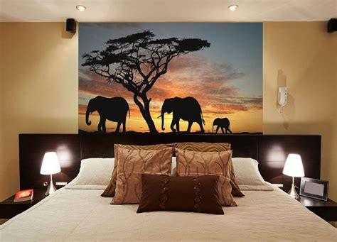 chambre style africain poster mural thème afrique pour un caractère sauvage unique