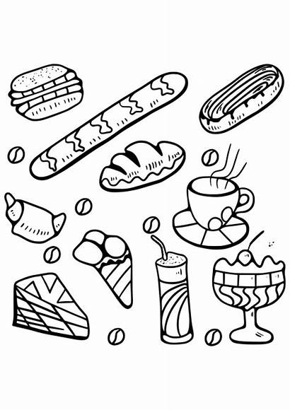 Coloring Pages Cakes Adults Cupcakes Cupcake Desserts