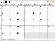 July 2019 Calendar With Holidays UK 2018 calendar template
