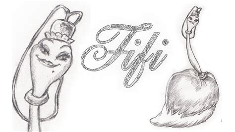 Speed Drawing Fifi From Disney Beauty And The Beast
