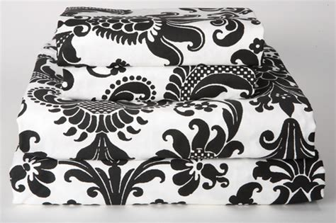 black and white sheets black and white damask bedding