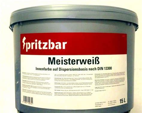Gut Deckende Wandfarbe by Die Wandfarbe F 252 R Innen Spritzbar Spritzbar Lacke