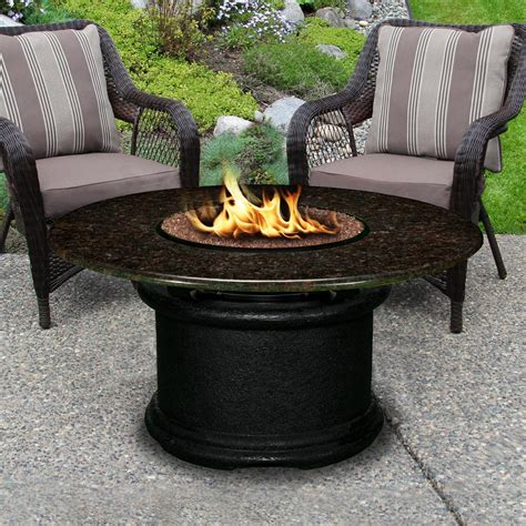 patio propane fire pit table del mar 48 inch propane fire pit table by california