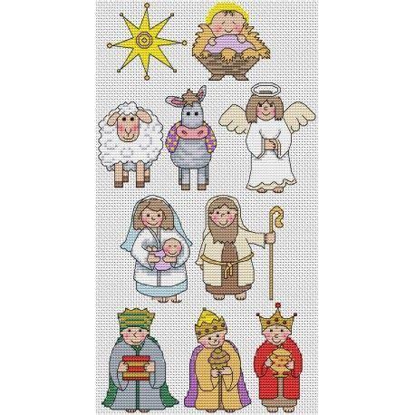 cross stitch nativity  patterns pesquisa google