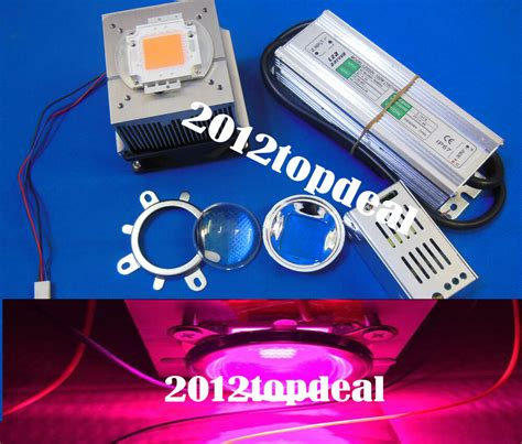 grow led len new 100w diy led grow light 380 840nm chip driver heatsink cooling fan led lens ebay
