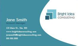 consulting business cards design custom business cards