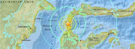 powerful  earthquake hits sulawesi major tsunami