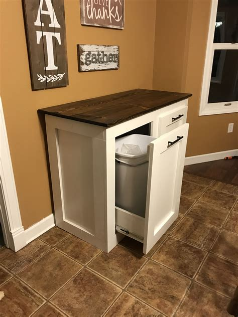 double trash  holder kitchen trash cans diy kitchen