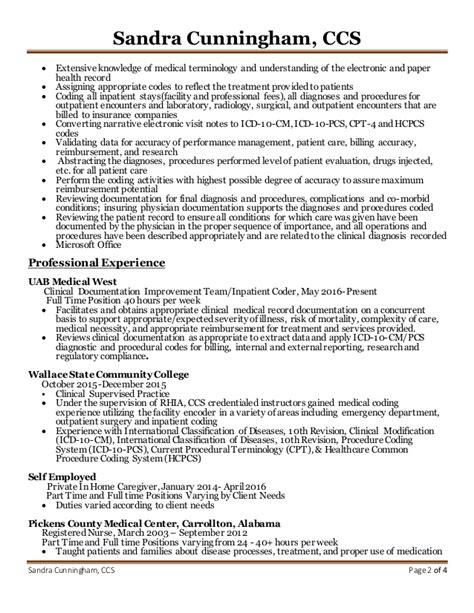 cunningham resume coding professional
