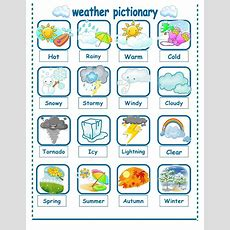 Weather Seasons Pictionary