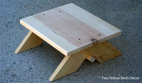 diy wooden step stool  woodworking