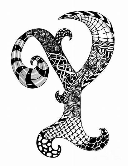 Letter Letters Monogram Zentangle Alphabet Drawing Nan