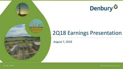 Denbury Resources Inc. 2018 Q2 - Results - Earnings Call ...