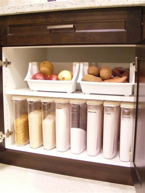 under cabinet storage containers organize your sugar flour baking flour cereal etc with