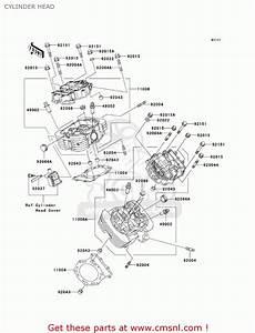 Kawasaki 2002 Vn1500-r2 Vulcan 1500 Drifter Cylinder Head