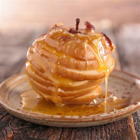 recette pommes au   la cannelle au miel  jus de