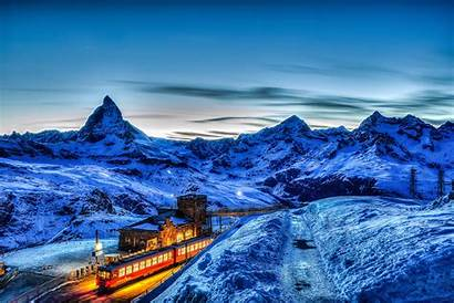 Switzerland Night Mountain Wallpapers Country Countries