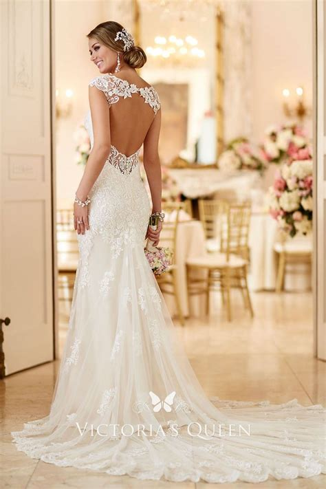 Open Back Queen Anne Neck Allover Lace Stylish Mermaid