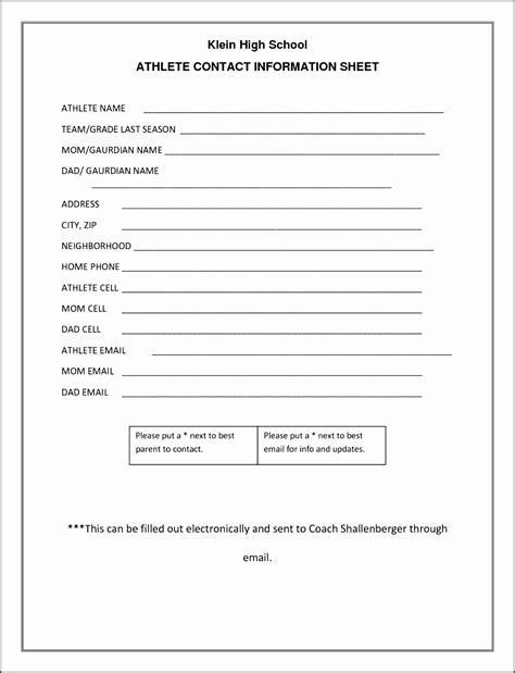 client information sheet outline sampletemplatess