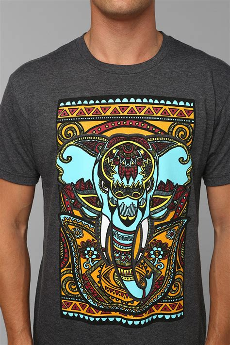 Lyst - Urban Outfitters Exotic Elephant Tee in Gray for Men