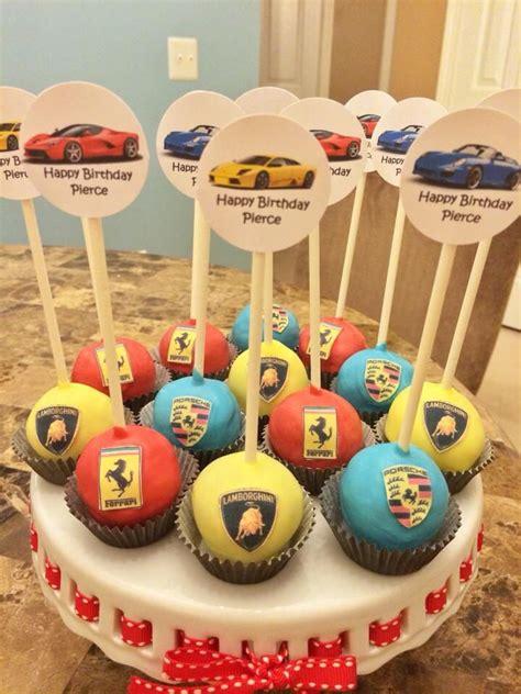 sports car themed cake pops lamborghini ferrari porsche