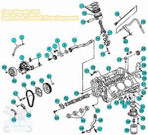 2008 Chevy Silverado 1500 Engine Block Parts Components
