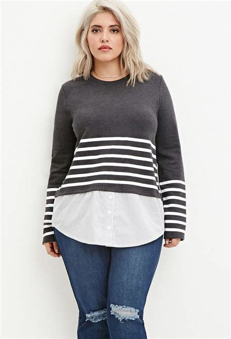 size layered stripe top  size fashion fashion  size hairstyles  size outfits