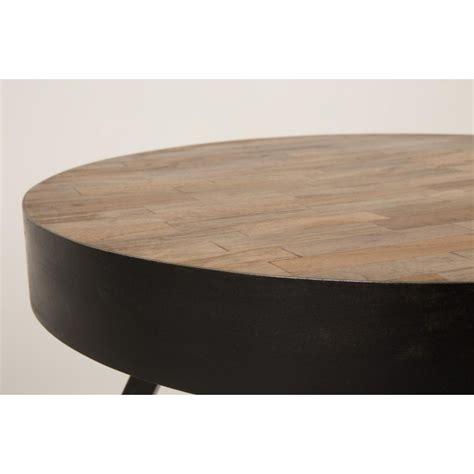 canapé en teck table basse ronde ø74 cm en teck recyclé suri large