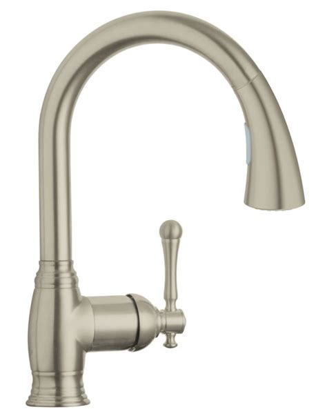 grohe bridgeford kitchen faucet faucet com 33870en1 in brushed nickel by grohe