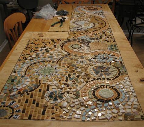 mosaic table top kit kitchen counter tile diy broken tile mosaic backsplash