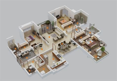 50 Three 3 Bedroom Apartment/House Plans Architecture