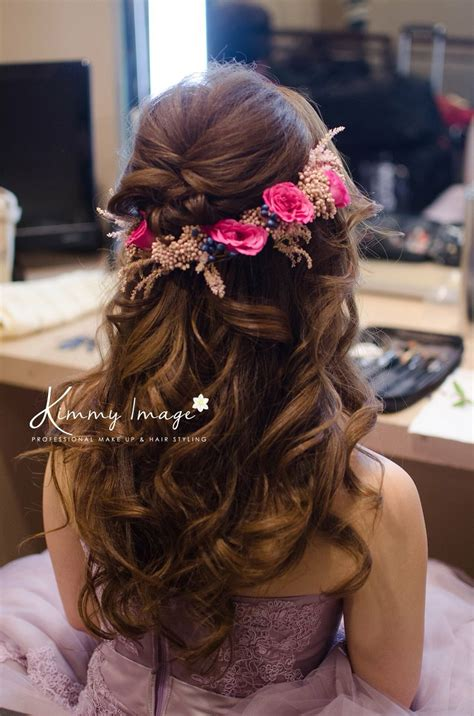 dreamy flowery hairstyle bride hairstyles indian