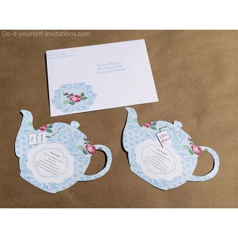 printable tea party invitation bridal tea party