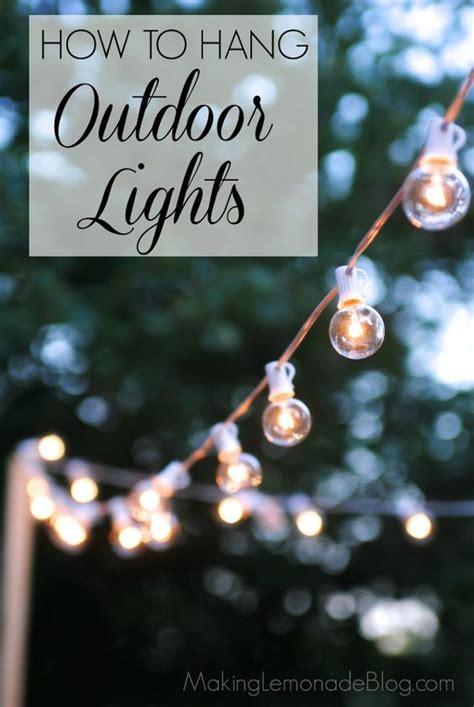 hang outdoor  decks  pinterest