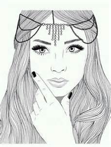 Outline Girl Drawings Tumblr